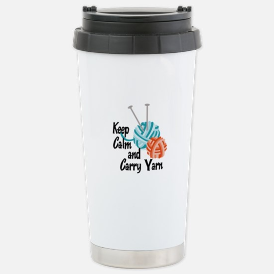 KEEP CALM AND CARRY YARN Travel Mug