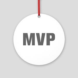 MVP-Akz gray Ornament (Round)