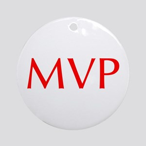 MVP-Opt red Ornament (Round)