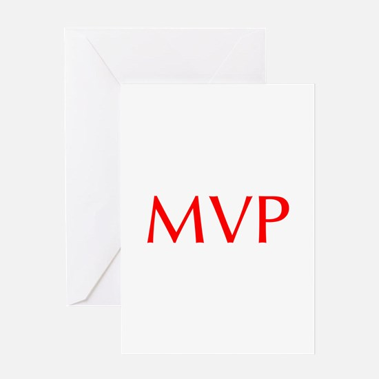 MVP-Opt red Greeting Cards