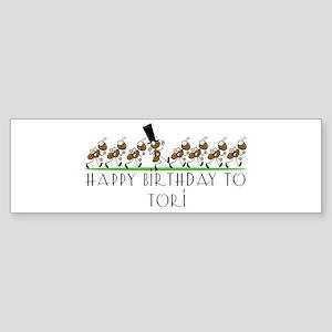 Happy Birthday Tori (ants) Bumper Sticker