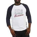 'Tomorrow in Australia' baseball jersey