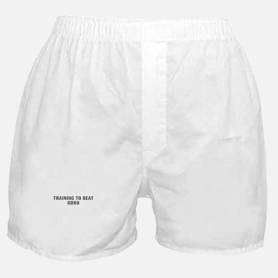 Training to beat Goku-Akz gray Boxer Shorts