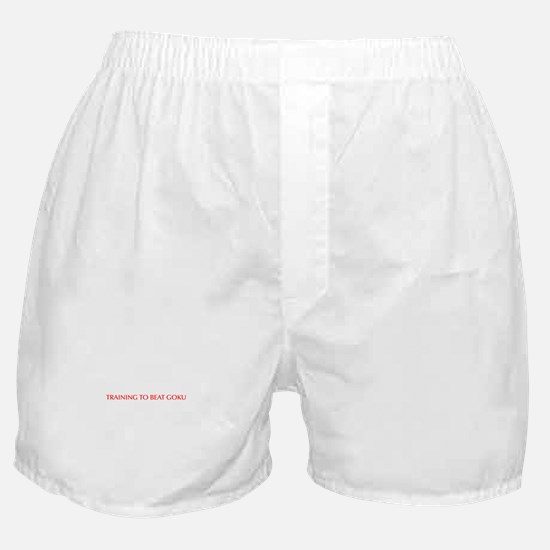 Training to beat Goku-Opt red Boxer Shorts