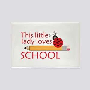 THIS LITTLE LADY LOVES SCHOOL Magnets