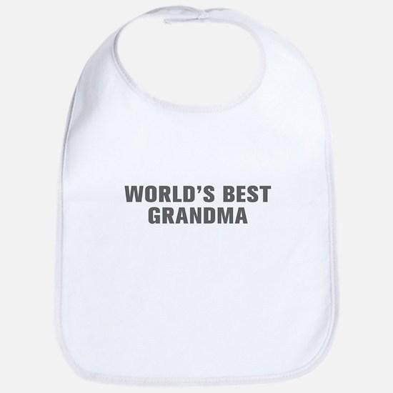 World s Best Grandma-Akz gray Bib