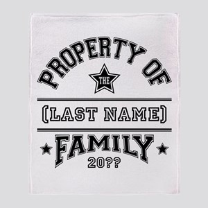 Family Property Throw Blanket