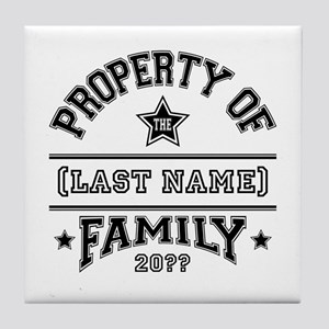 Family Property Tile Coaster
