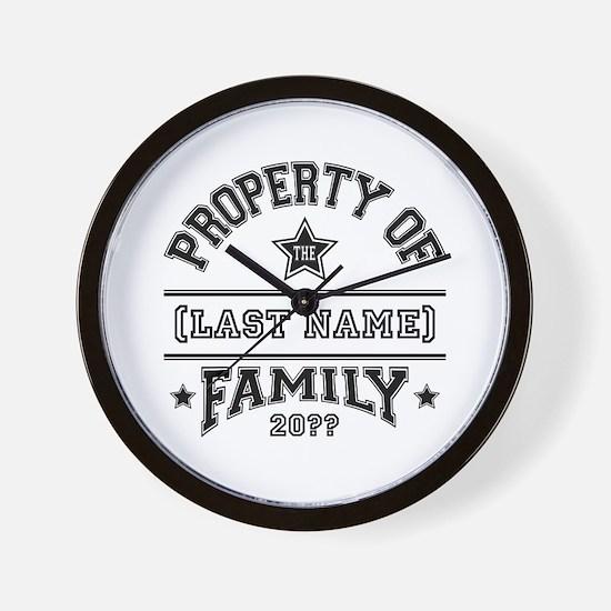 Family Property Wall Clock