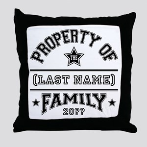 Family Property Throw Pillow
