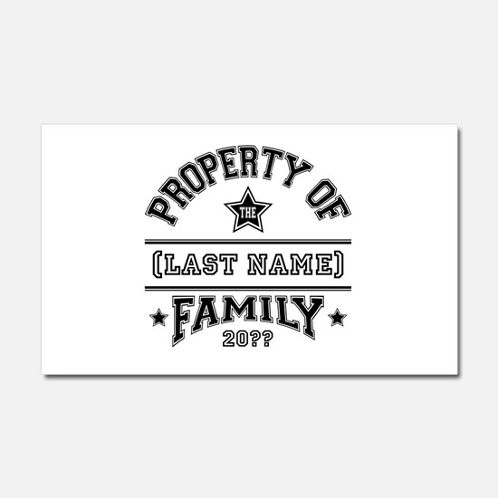 Family Property Car Magnet 20 x 12