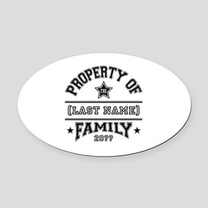 Family Property Oval Car Magnet