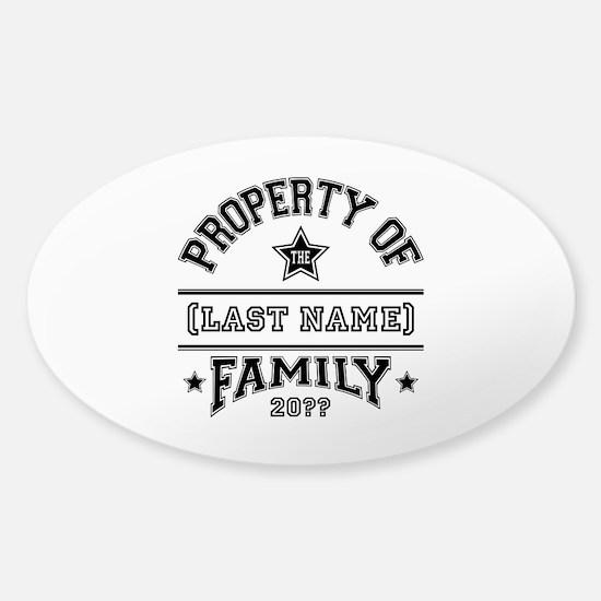 Family Property Sticker (Oval 10 pk)