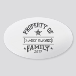 Family Property Sticker (Oval)