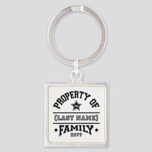 Family Property Square Keychain