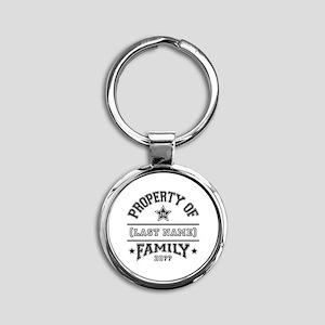 Family Property Round Keychain