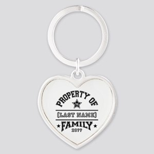 Family Property Heart Keychain