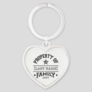 Family Property Heart Keychain