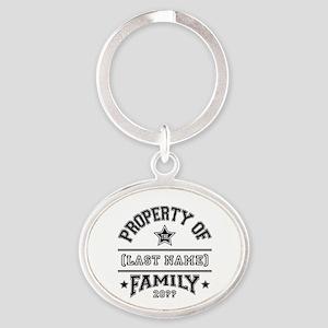 Family Property Oval Keychain