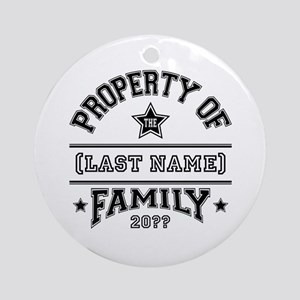 Family Property Ornament (Round)