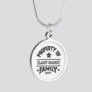 Family Property Silver Round Necklace