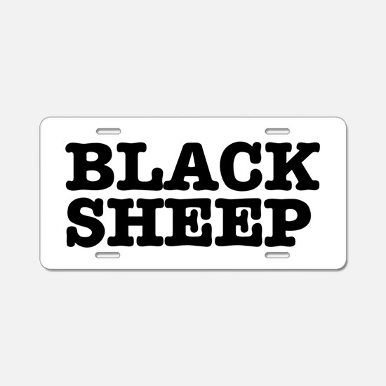 BLACK SHEEP Aluminum License Plate