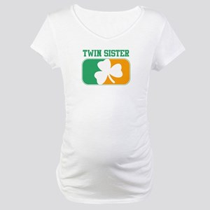 TWIN SISTER (Irish) Maternity T-Shirt