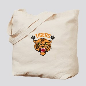 TIGERS AND PAWPRINTS Tote Bag