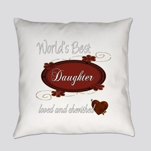 cherished daughter copy Everyday Pillow