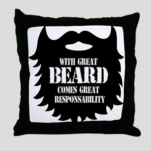 Great Beard - Great Responsability Throw Pillow