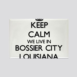 Keep calm we live in Bossier City Louisian Magnets