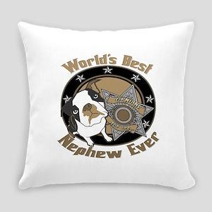 TopDogWorldsBestNephew copy Everyday Pillow