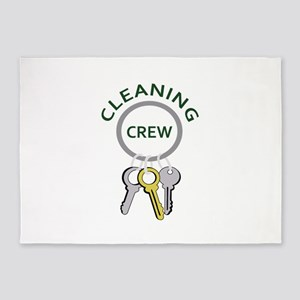 CLEANING CREW 5'x7'Area Rug