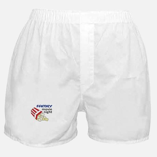 FAMILY MOVIE NIGHT Boxer Shorts