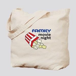 FAMILY MOVIE NIGHT Tote Bag
