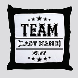 Team Family Throw Pillow