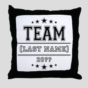 Team Family Throw Pillow