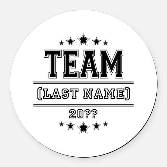 Team Family Round Car Magnet