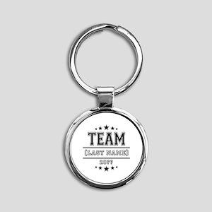 Team Family Round Keychain