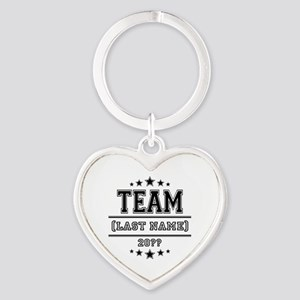 Team Family Heart Keychain