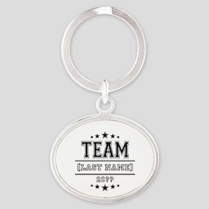 Team Family Oval Keychain