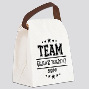 Team Family Canvas Lunch Bag