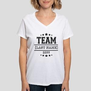 Team Family Women's V-Neck T-Shirt