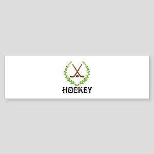 HOCKEY CREST Bumper Sticker