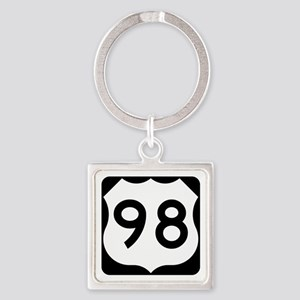 US Route 98 Square Keychain