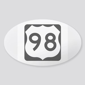 US Route 98 Sticker (Oval)