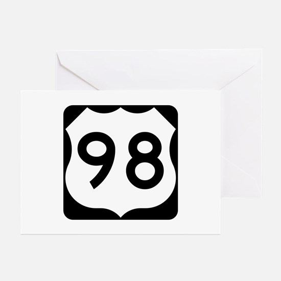 US Route 98 Greeting Cards (Pk of 10)