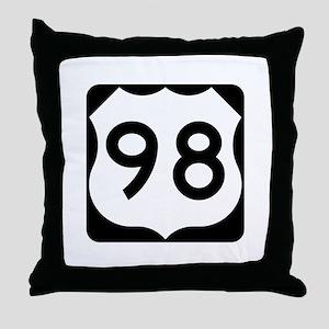 US Route 98 Throw Pillow