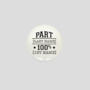 100 Percent Me Mini Button