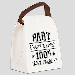 100 Percent Me Canvas Lunch Bag